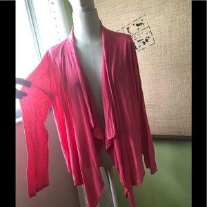 New Eileen Fisher coral silk cardigan XL